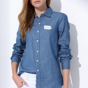 Corporate Merchandise: Logo printing on Denim Shirts for women