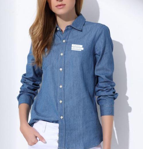 Corporate Merchandise: Logo printing on Denim Shirts for women