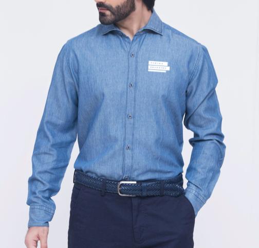 Corporate Merchandise: Logo printing on Denim Shirts