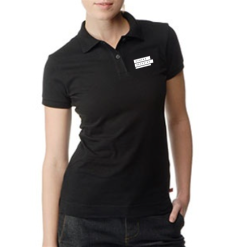 Corporate Merchandise: Embroidered Logo on Polo t-shirts for women