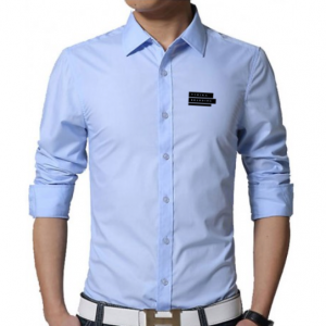 Corporate Merchandise: Embroidered Logo on poly cotton formal shirts for men