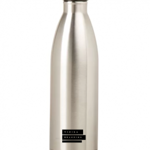 Corporate merchandise: Steel water bottle and flasks with logo priting