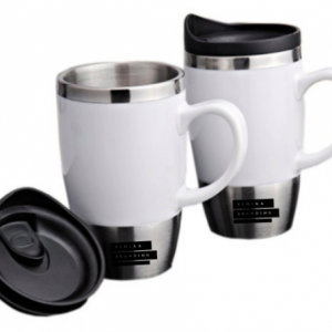 Corporate Merchandise: Logo Printing on branded coffee mugs and sippers