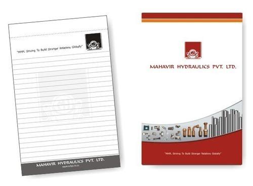 Corporate Merchandise: Logo printing on plain notepads