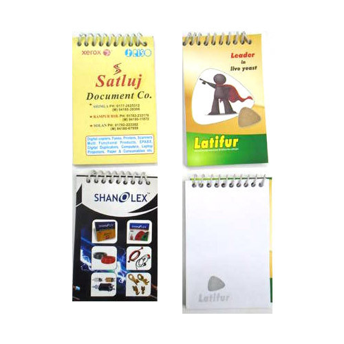 Corporate Merchandise: Logo printing on pocket notebooks