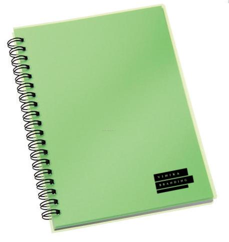 Corporate Merchandise: Logo printing on spiral bound notebooks