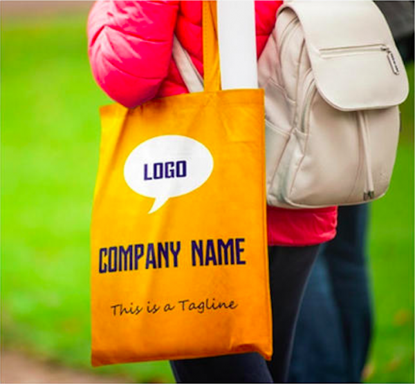Corporate Merchandise: Logo printing on cloth bags for your employees, clients and event attendees